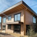 2 story house skillion roof