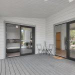 Bedroom doors open to veranda retreat Iceland