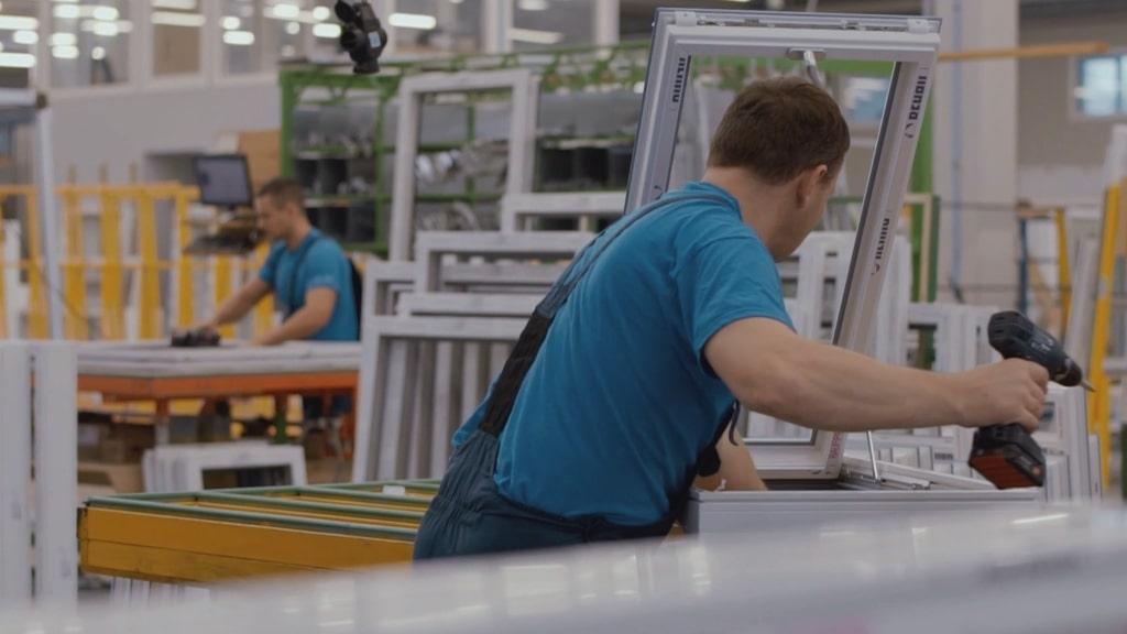 Double glazed windows production