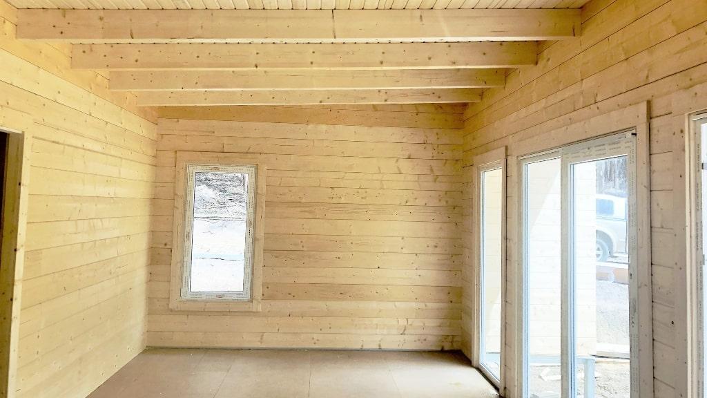 Inside off grid house built in Tasmania