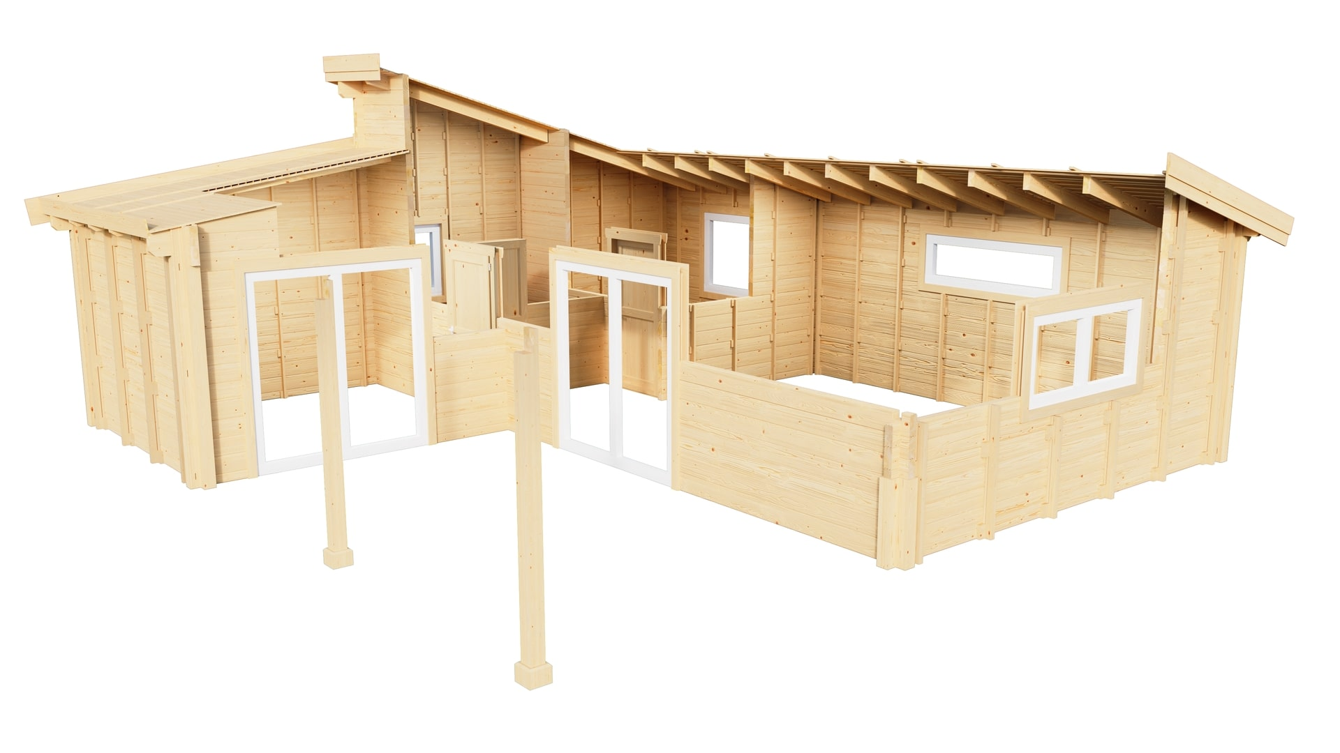 Supplied timber structure